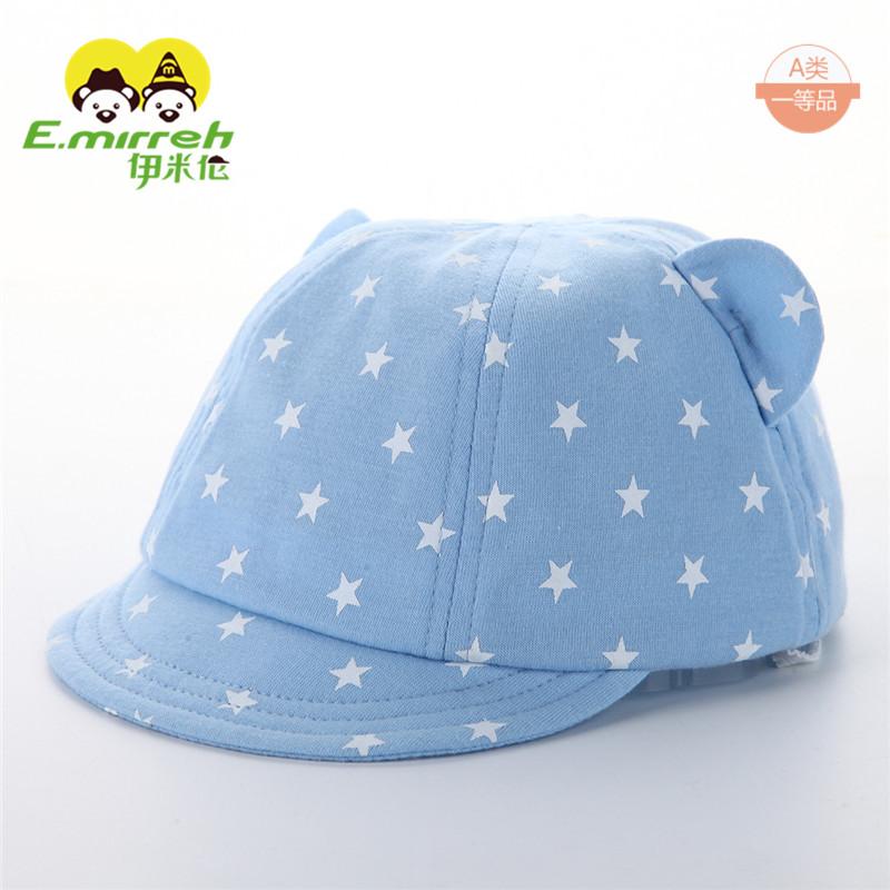 春夏薄款帽子婴儿 棒球帽软帽沿宝宝 纯棉幼儿鸭舌帽新生
