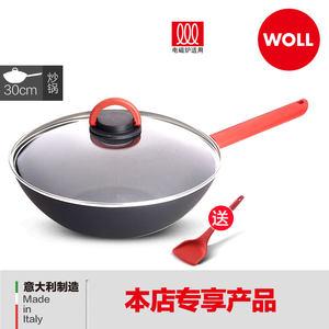德国WOLL意大利原装进口新品陶瓷不粘炒锅30cm口径 燃气电磁炉通
