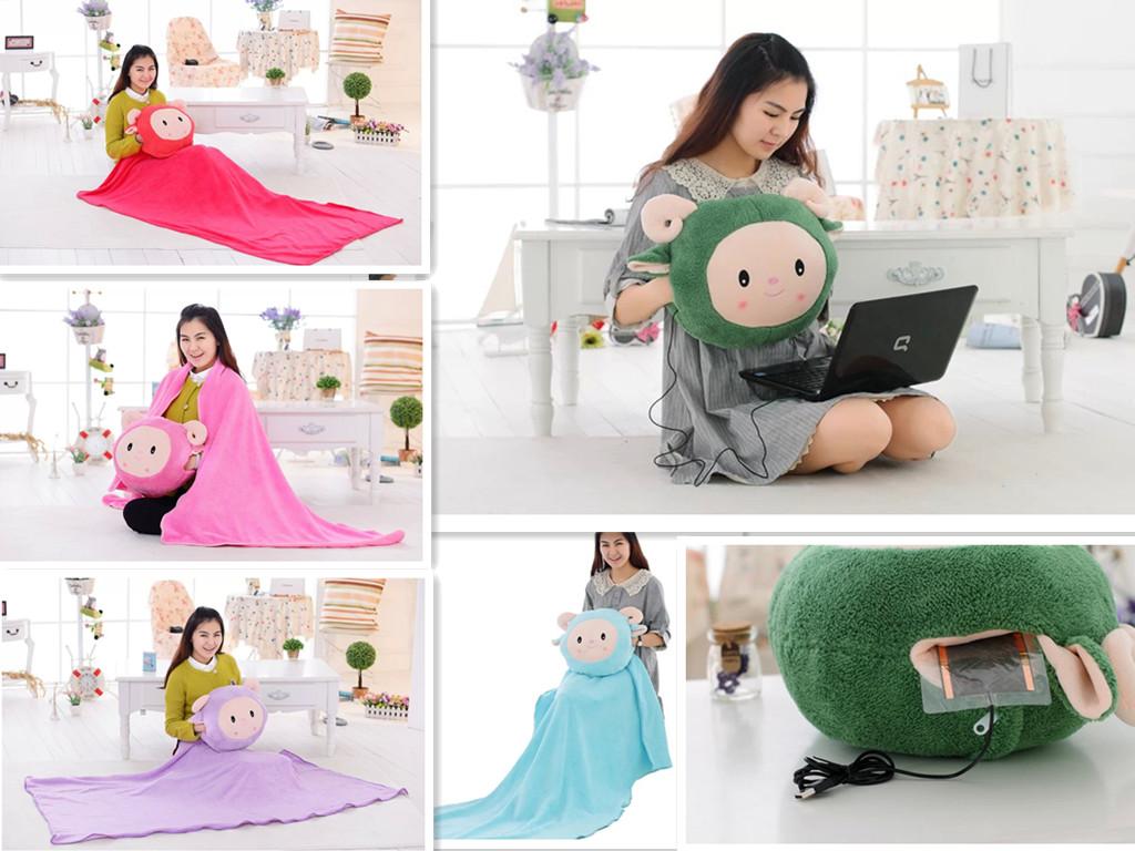 创意小羊暖手捂可加热冬天插手抱枕送情侣男女同学情人节玩具礼物