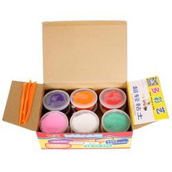 超轻粘土24色彩泥无毒橡皮泥纸太空雪花奶油土36色收纳盒套装玩具