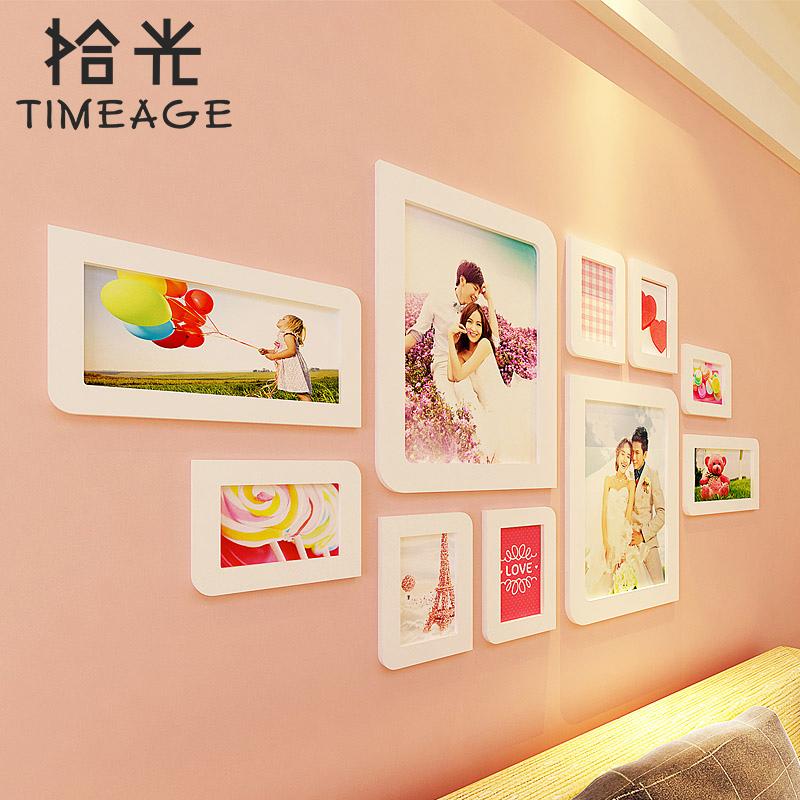 定制婚纱照照片墙相片墙欧式田园乡村相框墙创意组合