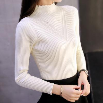 高领毛衣女套头秋冬女装春装新款潮韩版短加厚针织衫打底衫女长袖