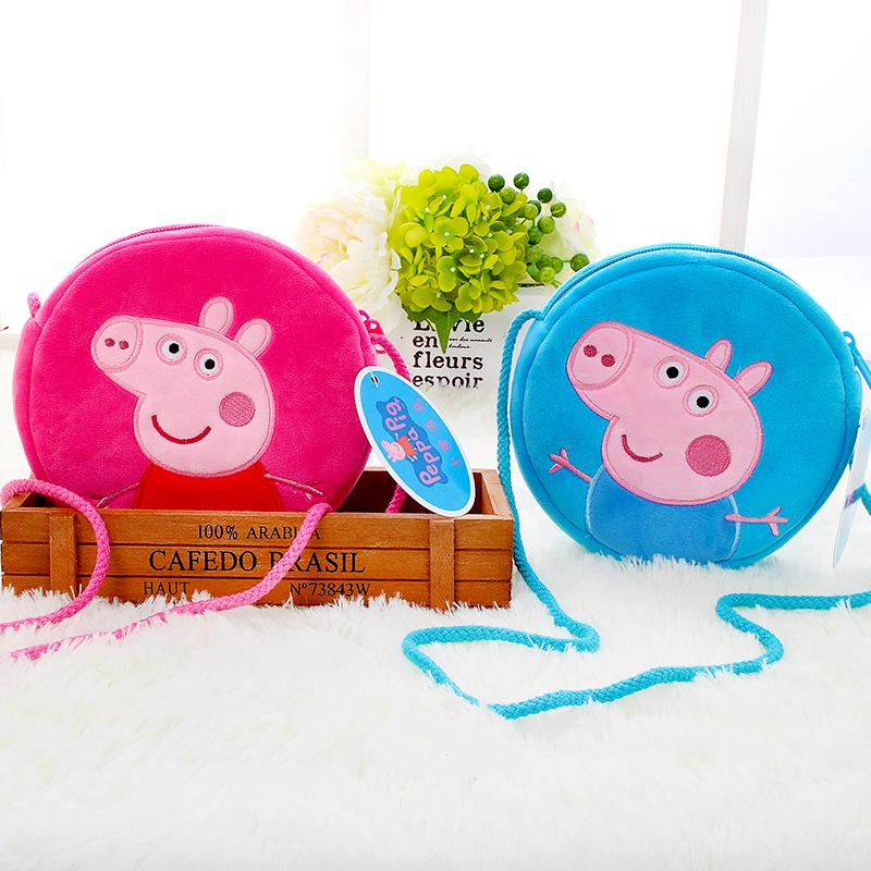 小猪佩奇儿童单肩斜挎包幼儿园书包1-3-5岁佩琪零钱包儿童节礼物