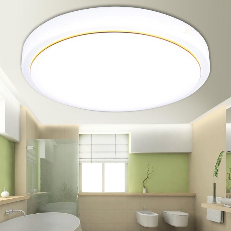LED吸顶灯圆形温馨卧室灯小客厅阳台灯卫生间白色现代简约饰灯具