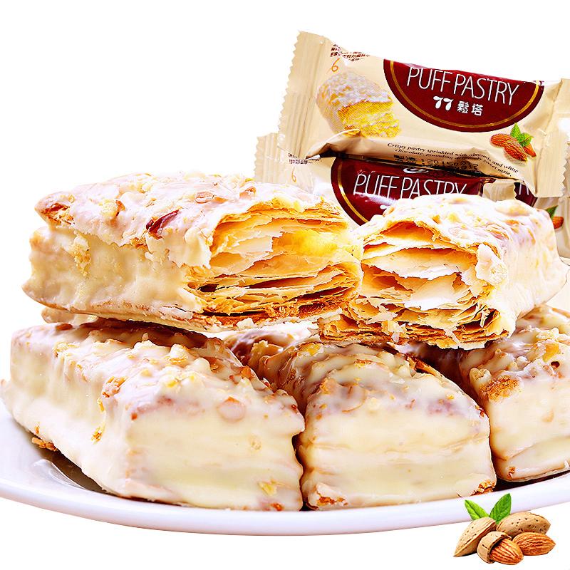 松塔零食进口饼干宏亚蜜兰诺特产千层酥扁桃台湾