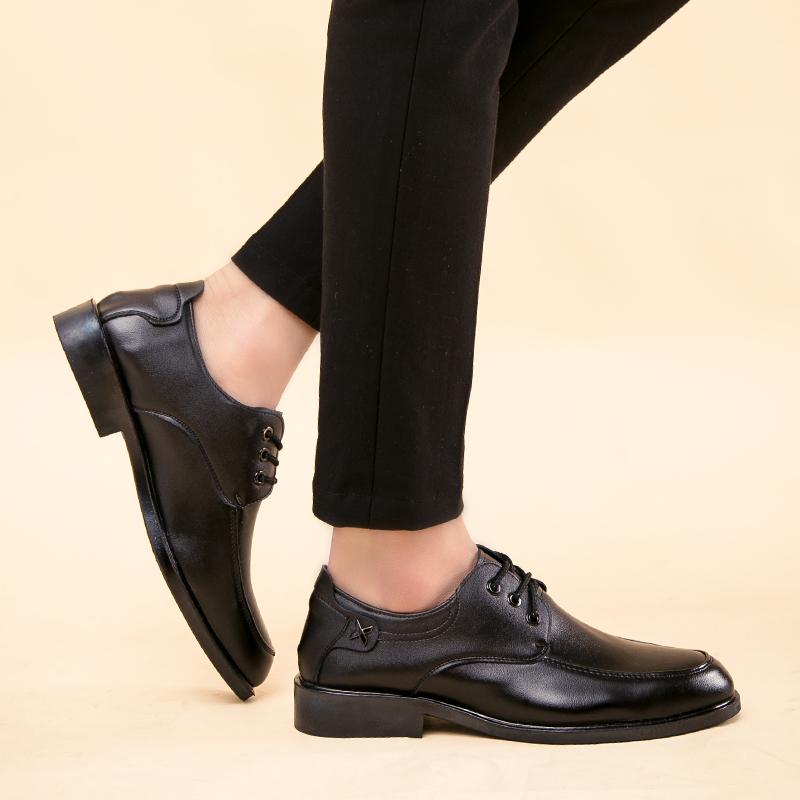 新款流行时尚社会工作正装男士酒吧工作英伦风休息小皮鞋男鞋