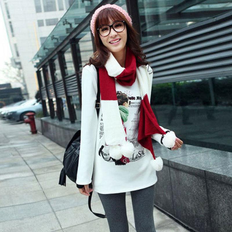 2016秋冬季新款韩版大码女装时尚百搭中长款长袖修身加绒加厚卫衣