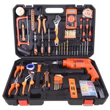亚得力五金工具箱 家用工具套装 电工木工维修组合组套