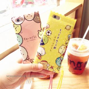 日本超可爱小生物卡通糖果苹果6s硅胶手机壳iphone7