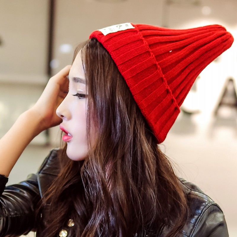 围巾 帽子 秋冬季帽子女毛线帽保暖韩版潮针织帽绒线