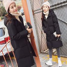 薇杉2016新款韩版棉衣女中长款加厚棉袄外套学生大码过膝面包服潮