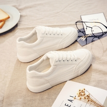 2017春夏新款布鞋小白鞋透气街拍帆布鞋女学生韩版潮百搭休闲板鞋