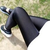 夏打底裤女薄款外穿黑色小脚弹力大码冰丝秋款高腰紧身长裤光泽裤
