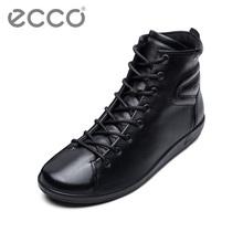 ECCO爱步 复古平底圆头系带休闲高帮单鞋女秋 柔酷2号系列206523图片