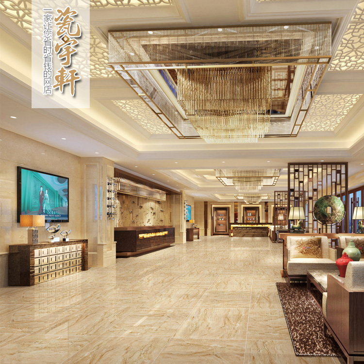 高档客厅大理石地砖800x800宾馆地板砖酒店工程耐磨