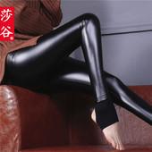 韩版皮裤女加绒加厚显瘦冬季PU皮打底裤外穿大码秋冬款紧身踩脚裤