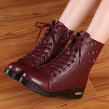 秋冬季短靴马丁靴英伦风保暖棉靴短筒雪地棉鞋学生女鞋子潮女靴子