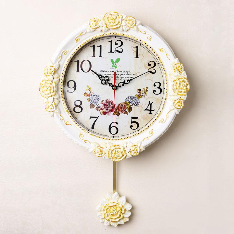 时钟欧式客厅静音挂钟
