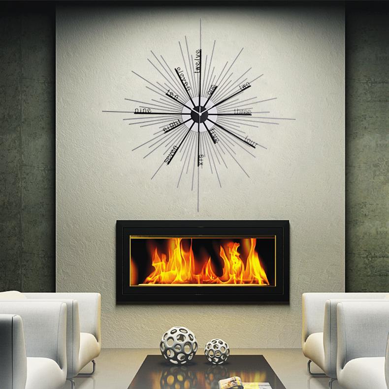 金属挂钟时尚个性创意挂钟客厅卧室钟表背景墙贴挂钟