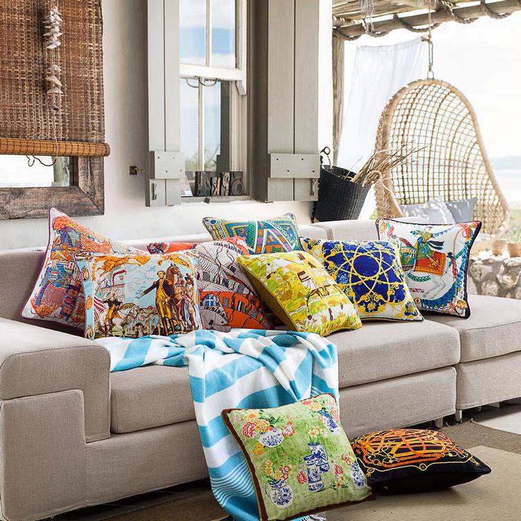 样板房 汽车田园靠垫欧式沙发奢华美式办公室护腰枕