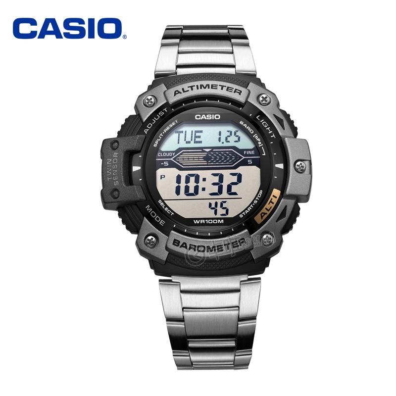 casio卡西歐男式手錶 電子表男士多功能防水登山男表SGW-300HD-1A