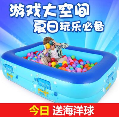 欧培波波球充气海洋球池室内游戏屋婴儿游泳池加厚儿童钓鱼池玩具