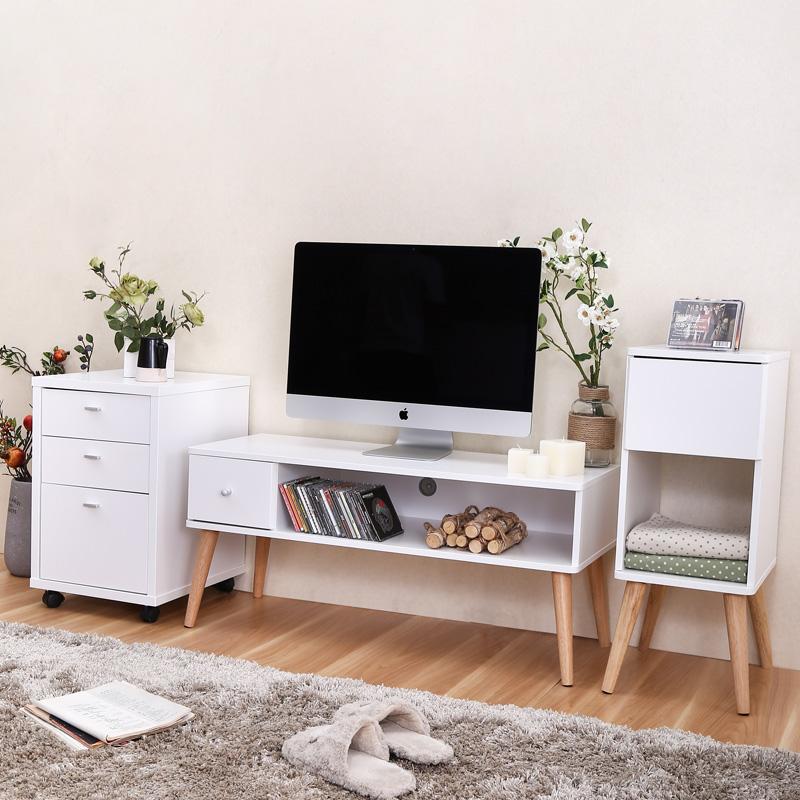 电视柜简约茶几组合套装宜家现代北欧实木小户型客厅
