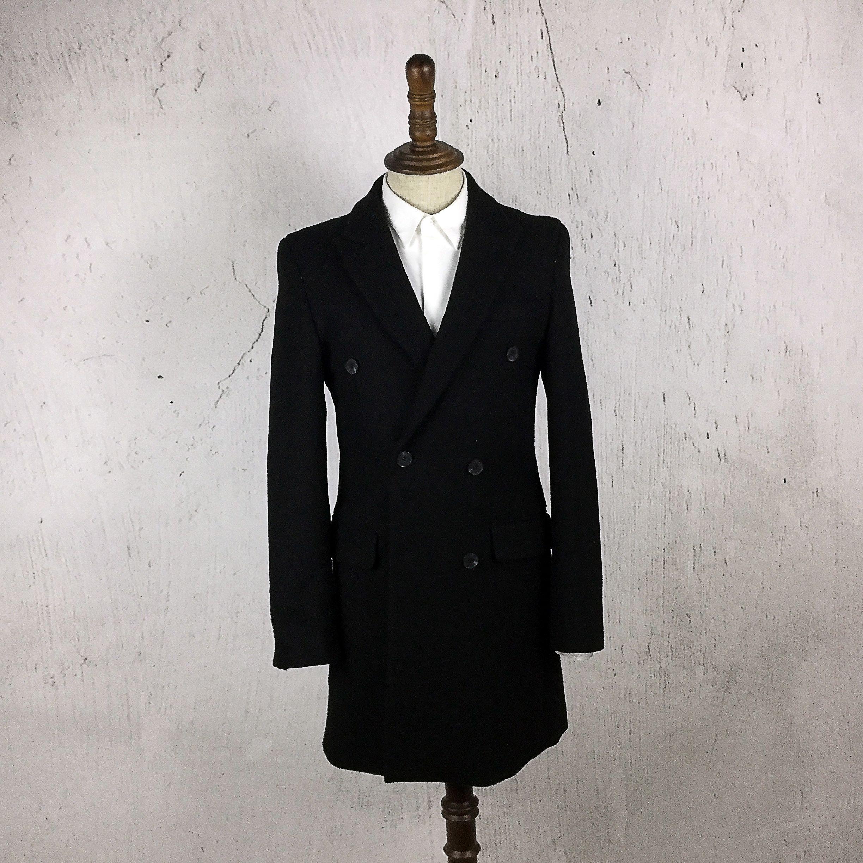 2015秋冬新款男士风衣修身型毛呢大衣男青年中长款呢子男装外套