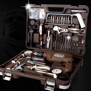 AK 多功能工具箱套装 维修电工组套 家用车载五金组合工具带电钻