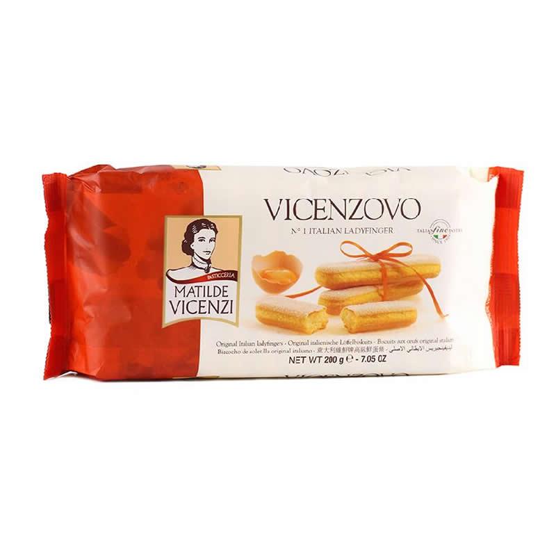意大利进口维鲜牌vicenzi手指饼干200g 提拉米苏必备烘焙零食小点