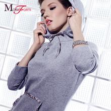 曼妮芬商场同款 中厚连帽长袖斜插袋家居服 珊瑚绒女士可外穿睡衣