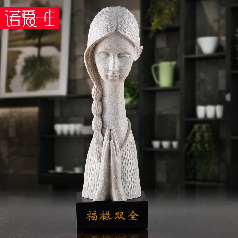 欧式人物雕塑艺术品摆件祈祷女神创意抽象树脂装饰