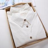 2016秋装新款韩国小清新学生纯白色衬衫女长袖简约修身打底衬衣女