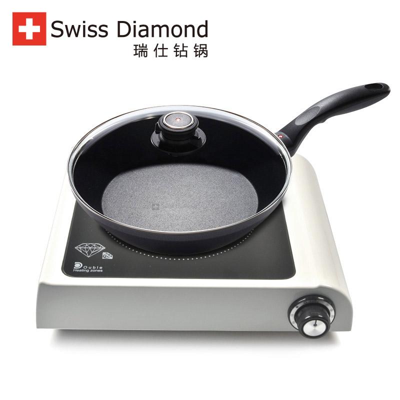 SwissDiamond瑞士鑽石鍋 26cm煎炒鍋 健康無輻射電陶爐