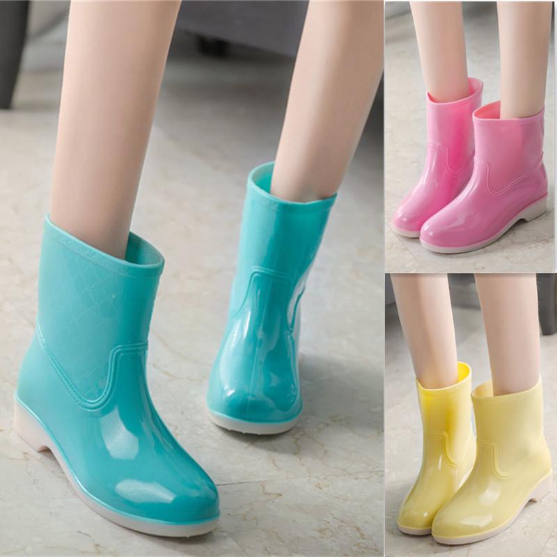 包邮雨鞋春秋韩版女式时尚果冻中筒雨靴防水防滑水鞋大码套鞋胶鞋