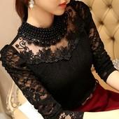 小衫 上衣服秋韩版 女装 2017春装 蕾丝打底衫 长袖 短款 t恤女修身 新款