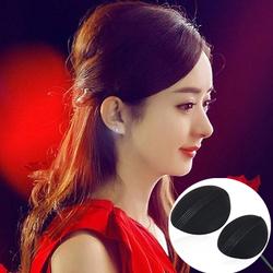 韩国新款复古珍珠蝴蝶结碎花丸子头盘发器蓬松发夹垫高器编发工具