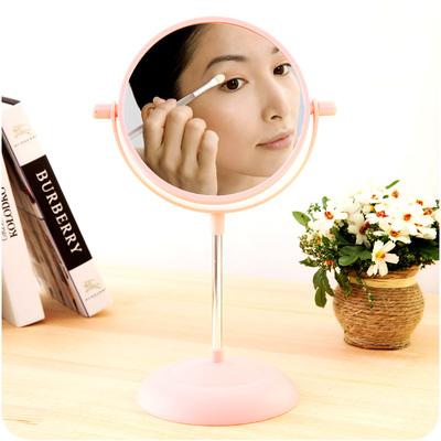 随身化妆镜欧式简约梳妆镜创意便携结婚公主镜台式