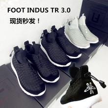 足下工业FOOT INDUSTRY3.0编织运动跑鞋余文乐情侣鞋高帮男鞋