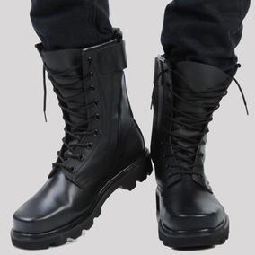 正品军靴男马丁靴工装靴真皮靴子男 春秋款牛皮特种兵钢头高帮靴