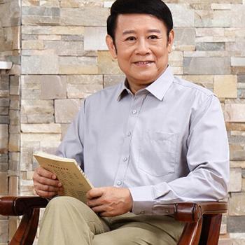 中老年男长袖衬衫父亲装衬衫男棉