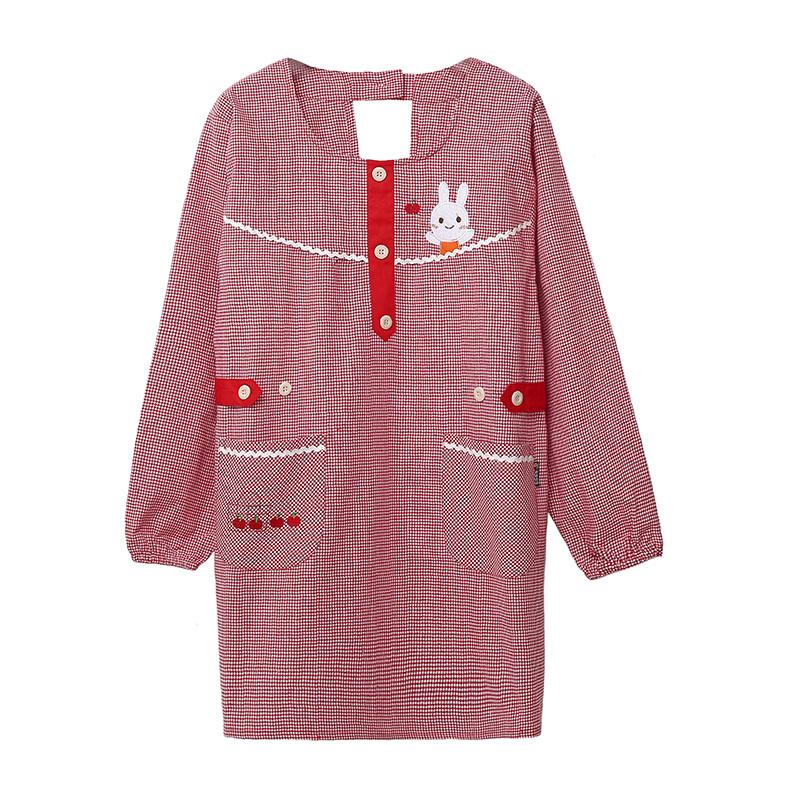 韩版时尚厨房做饭长袖饭围裙