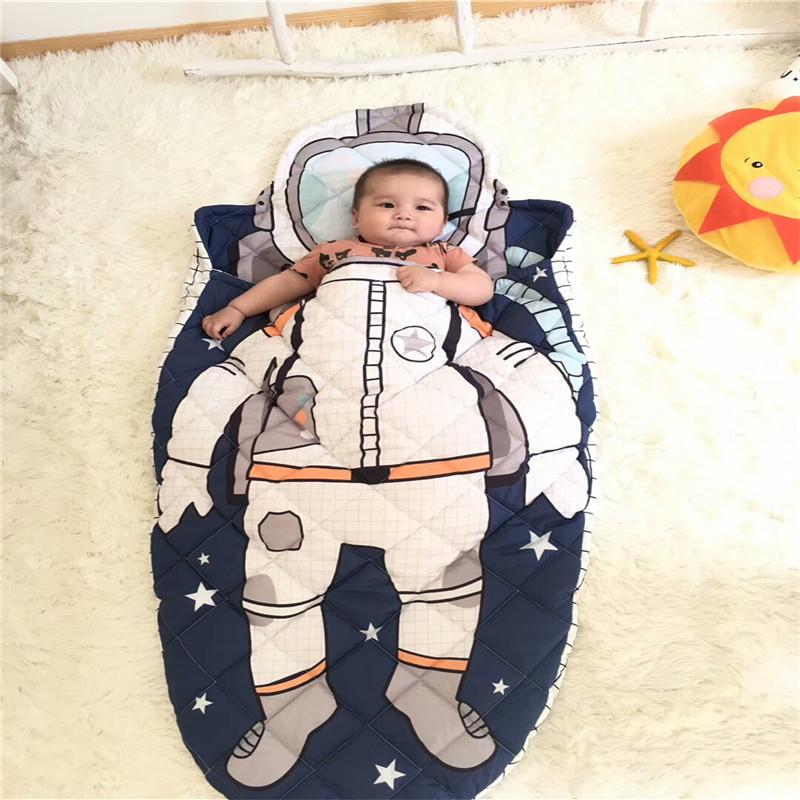爆款保暖全棉婴幼儿卡通造型睡袋儿童秋冬季宝宝防踢被 可机洗