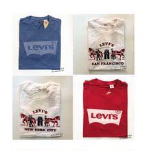 现货美代正品Levi's/李维斯纯棉印花LOGO纯色短袖T恤衫男休闲潮款