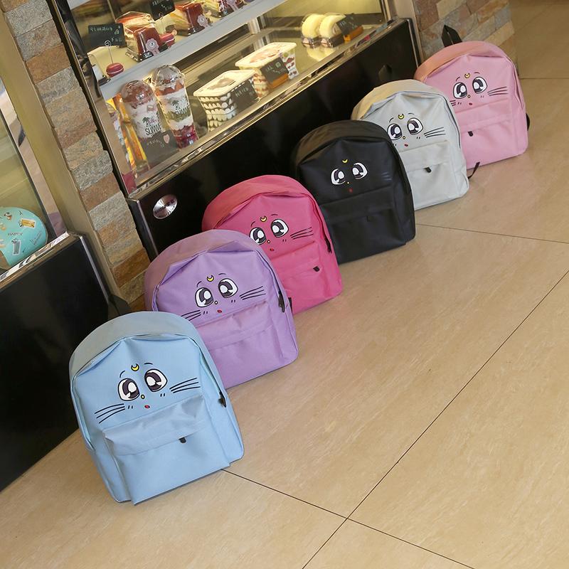 幼儿园书包可爱卡通小猫多种颜色结实时尚小学男孩女孩双肩包便宜