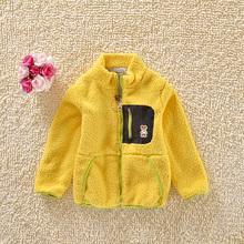 童装春秋装2014新款 羊羔毛男童开衫外套 儿童宝宝绒衫