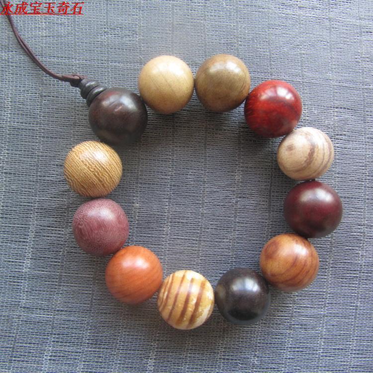 颗包邮费12粒径共计20mm酸柳枝各种木珠多宝串黑檀天然木头手链