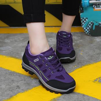 彩带新款登山鞋春夏透气户外运动鞋女徒步鞋旅游爬山跑步鞋网女鞋