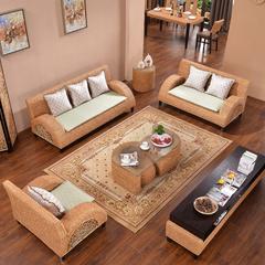印尼藤编沙发客厅组合1+2+3东南亚风格家具藤席布艺藤椅沙发家具
