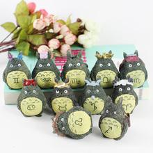 创意可爱十二星座龙猫玩偶小摆件 迷你家居桌面树脂摆饰装饰品
